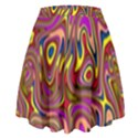 Abstract Shimmering Multicolor Swirly High Waist Skirt View2