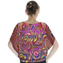 Abstract Shimmering Multicolor Swirly Blouse View2