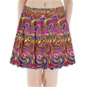 Abstract Shimmering Multicolor Swirly Pleated Mini Skirt View1