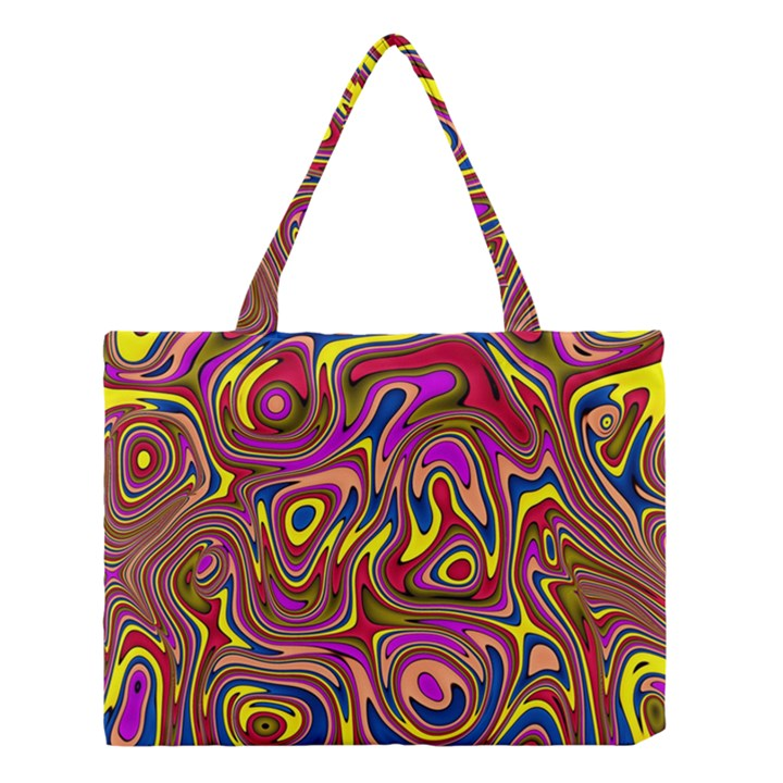 Abstract Shimmering Multicolor Swirly Medium Tote Bag