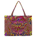 Abstract Shimmering Multicolor Swirly Medium Zipper Tote Bag View1