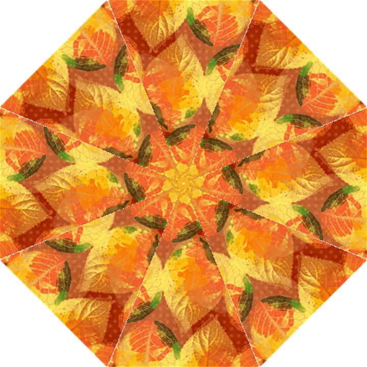 Fall Colors Leaves Pattern Folding Umbrellas