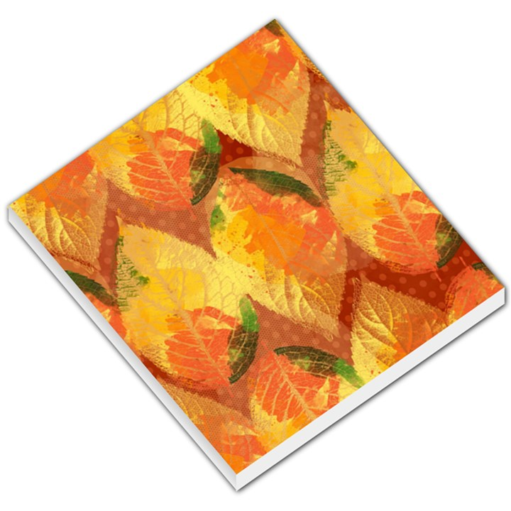 Fall Colors Leaves Pattern Small Memo Pads