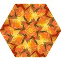 Fall Colors Leaves Pattern Mini Folding Umbrellas View1