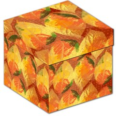 Fall Colors Leaves Pattern Storage Stool 12