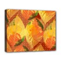 Fall Colors Leaves Pattern Deluxe Canvas 20  x 16   View1
