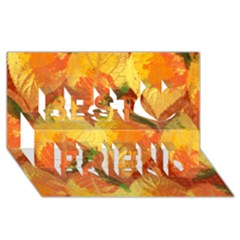 Fall Colors Leaves Pattern Best Friends 3D Greeting Card (8x4)