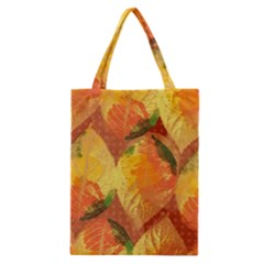 Fall Colors Leaves Pattern Classic Tote Bag