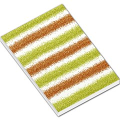 Metallic Gold Glitter Stripes Large Memo Pads