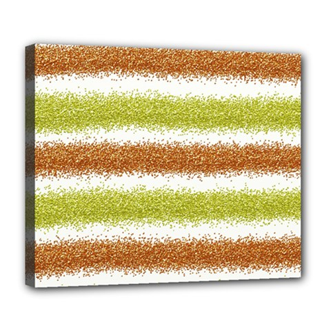 Metallic Gold Glitter Stripes Deluxe Canvas 24  x 20