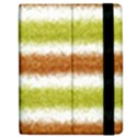 Metallic Gold Glitter Stripes Apple iPad 3/4 Flip Case View2