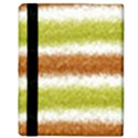 Metallic Gold Glitter Stripes Apple iPad 3/4 Flip Case View3