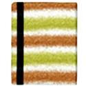 Metallic Gold Glitter Stripes Apple iPad Mini Flip Case View3