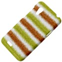 Metallic Gold Glitter Stripes HTC Desire VT (T328T) Hardshell Case View4