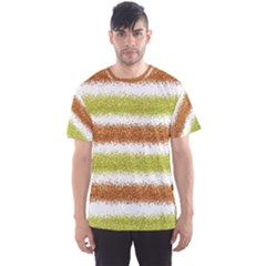 Metallic Gold Glitter Stripes Men s Sport Mesh Tee
