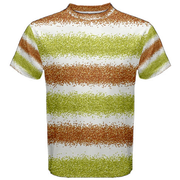 Metallic Gold Glitter Stripes Men s Cotton Tee