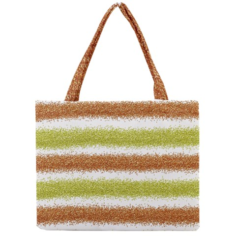 Metallic Gold Glitter Stripes Mini Tote Bag