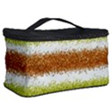 Metallic Gold Glitter Stripes Cosmetic Storage Case View2