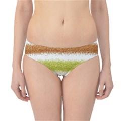 Metallic Gold Glitter Stripes Hipster Bikini Bottoms