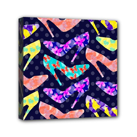 Colorful High Heels Pattern Mini Canvas 6  X 6