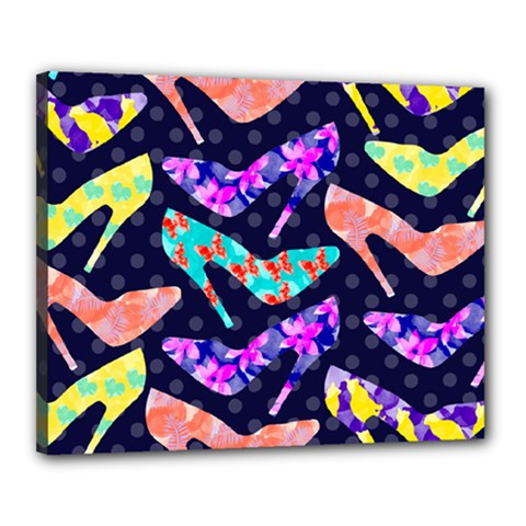 Colorful High Heels Pattern Canvas 20  x 16