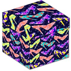 Colorful High Heels Pattern Storage Stool 12