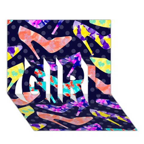 Colorful High Heels Pattern GIRL 3D Greeting Card (7x5)