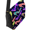 Colorful High Heels Pattern Flap Messenger Bag (L)  View2