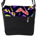 Colorful High Heels Pattern Flap Messenger Bag (S) View1