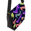 Colorful High Heels Pattern Flap Messenger Bag (S) View2