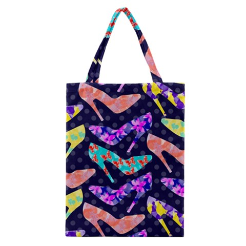 Colorful High Heels Pattern Classic Tote Bag
