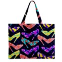 Colorful High Heels Pattern Zipper Mini Tote Bag View1