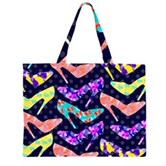 Colorful High Heels Pattern Large Tote Bag