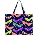 Colorful High Heels Pattern Large Tote Bag View1