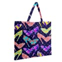 Colorful High Heels Pattern Zipper Large Tote Bag View2