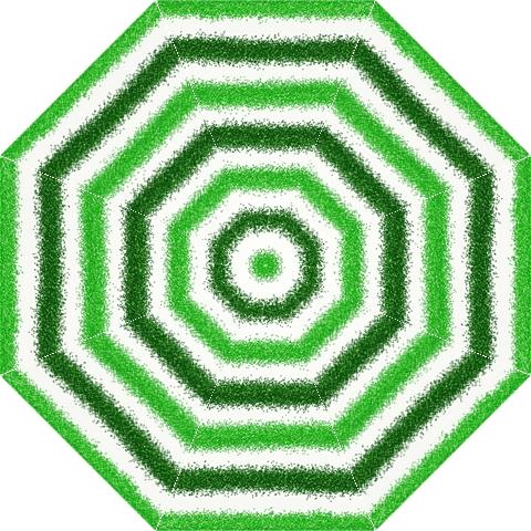 Metallic Green Glitter Stripes Folding Umbrellas