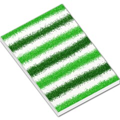 Metallic Green Glitter Stripes Large Memo Pads