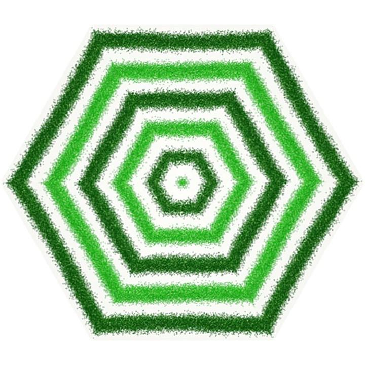 Metallic Green Glitter Stripes Mini Folding Umbrellas