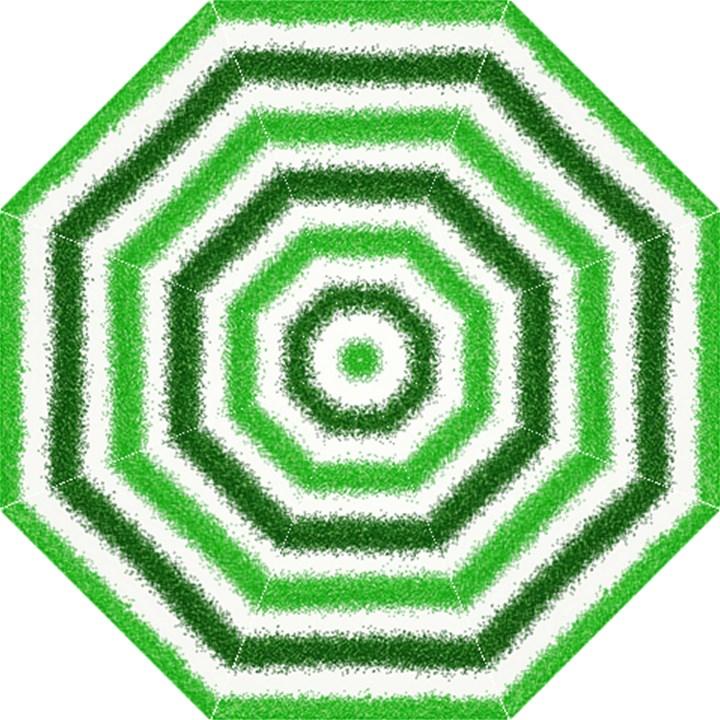 Metallic Green Glitter Stripes Hook Handle Umbrellas (Medium)
