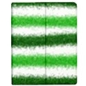 Metallic Green Glitter Stripes Apple iPad Mini Flip Case View1