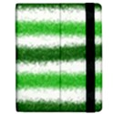 Metallic Green Glitter Stripes Apple iPad Mini Flip Case View2