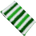 Metallic Green Glitter Stripes Apple iPad Mini Hardshell Case View5