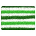 Metallic Green Glitter Stripes Samsung Galaxy Tab 8.9  P7300 Flip Case View1