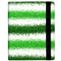 Metallic Green Glitter Stripes Samsung Galaxy Tab 8.9  P7300 Flip Case View2