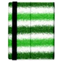 Metallic Green Glitter Stripes Samsung Galaxy Tab 8.9  P7300 Flip Case View3
