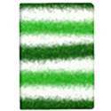 Metallic Green Glitter Stripes iPad Mini 2 Flip Cases View1