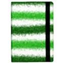 Metallic Green Glitter Stripes iPad Mini 2 Flip Cases View2
