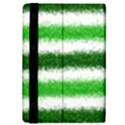 Metallic Green Glitter Stripes iPad Mini 2 Flip Cases View4