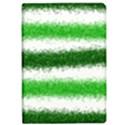 Metallic Green Glitter Stripes iPad Air Flip View1