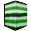 Metallic Green Glitter Stripes iPad Air Flip View3